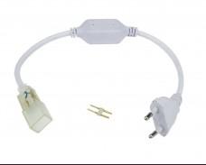 Захаранващ кабел за едноцветен неон или лента IP65 220V комплект