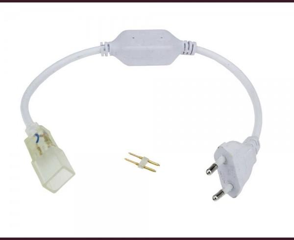 Захранващ кабел за LED лента IP65 220V комплект
