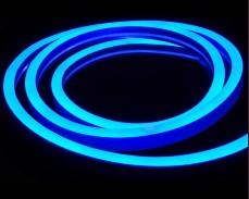 Едностранно светещ LED НЕОН гъвкав маркуч СИН 220V