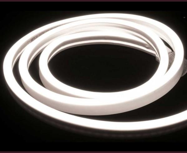 Едностранно светещ LED NEON гъвкав маркуч СТУДЕНО БЯЛ 220V