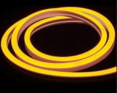 Едностранно светещ LED НЕОН гъвкав маркуч ЖЪЛТ 220V