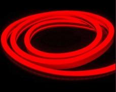 Едностранно светещ LED НЕОН гъвкав маркуч ЧЕРВЕН 220V