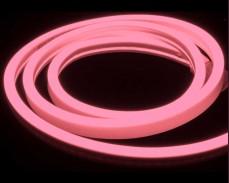 Едностранно светещ LED НЕОН гъвкав маркуч РОЗОВ 220V