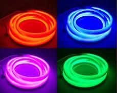 Едностранно светещ LED НЕОН гъвкав маркуч RGB многоцветен 220V