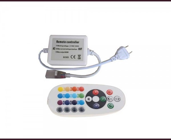 Контролер с дистанционно за RGB LED неон или лента IP65 220V