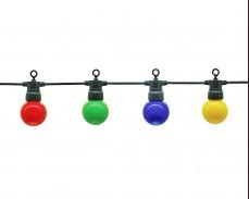 Парти лампи 10 РАЗНОЦВЕТНИ led лампи 5м, черен кабел 3W