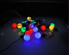 Парти лампи 20 РАЗНОЦВЕТНИ led лампи 10м, черен кабел ПОД НАЕМ