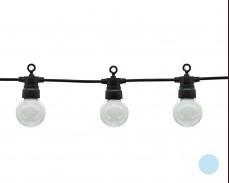 Парти лампи 20 СТУДЕНО БЕЛИ led лампи 10м, черен кабел