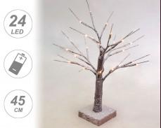 Светещо снежно дърво с 24 ТОПЛО БЕЛИ LED 45cm