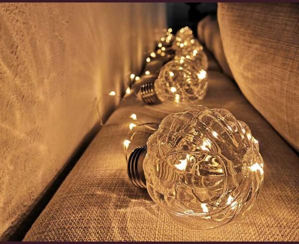 Релефни крушки Е27 с микро LED лампички 3м