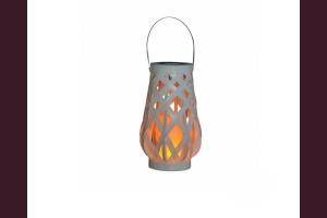 LED соларен плетн фенер с имитация на пламък IP44