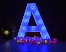 Светещи букви с LED лампички