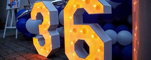 Светещи букви и цифри
