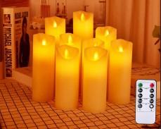 LED восъчни свещи с различна височина и дистанционно управление под наем