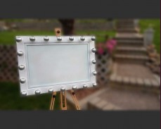 Светещо магнитно табло с декоративни крушки под наем