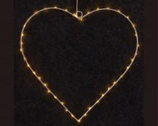 Светещо сърце с LED лампички 30 см.