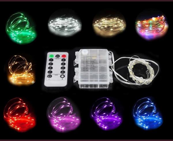 микро LED гирлянд  3xAA батерии и дистнционно под наем