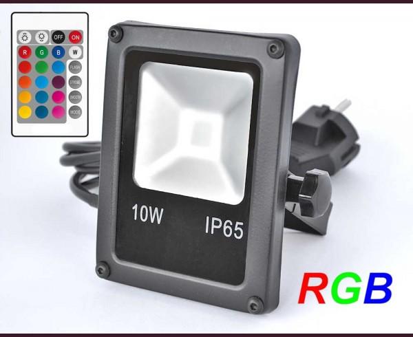 Цветен LED прожектор 10W под наем