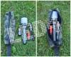Мултифункционална стоманена сгъваема лопата с фенер 8 части