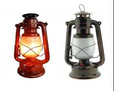 Декоративен фенер газова лампа с батерия и LED имитация на плмък
