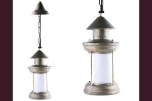 Декоративна висяща лампа с LED и имитация на плмък