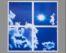 Комплект светещи LED панели имитиращи небе и облаци 60х60 см.
