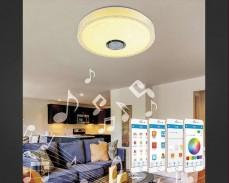 Музикален многоцветен LED плафон 39см 24W