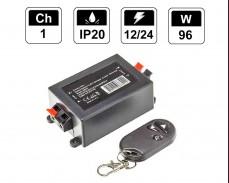 Безжичен RF димер за едноцветна LED лента с дистанционно 96W 12-24V