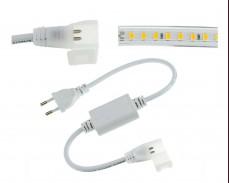 Захранващ кабел за LED лента 5730 IP44 220V комплeкт