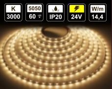 14,4W LED лента ТОПЛО БЯЛО 60 5050 24V IP20