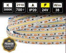 38W LED лента ТОПЛО БЯЛО 700 2110 24V IP20