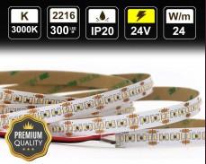 24W LED лента ТОПЛО БЯЛО 300 2216 24V IP20