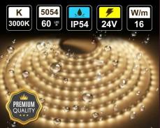 16W LED лента ТОПЛО БЯЛО 60 5054 24V IP54 влагоустойчива