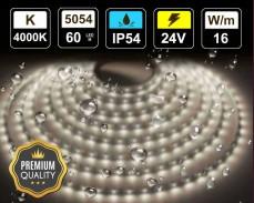 16W LED лента БЯЛО 4000K 60 5054 24V IP54 влагоустойчива