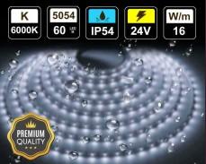 16W LED лента СТУДЕНО БЯЛО 60 5054 24V IP54 влагоустойчива