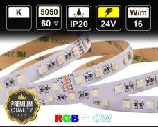 16W LED RGBCW лента 60 5050 24V IP20