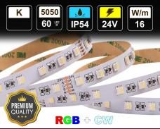 16W LED RGBCW лента 60 5050 24V IP54 влагоустойчива