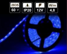 4,8W  LED лента СИНЯ 60 2835 12V IP20