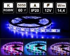 14,4W LED RGBW лента 60 5050 12V IP20