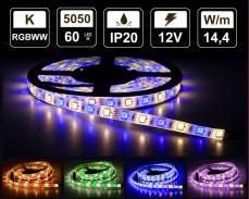 14,4W LED RGBWW лента 60 5050 12V IP20