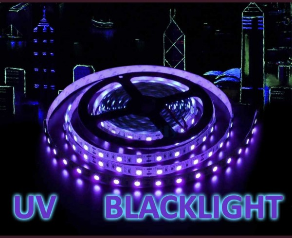 14,4 LED лента ултравиолетова  UV blacklight 60 5050 12V IP20