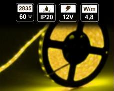 4,8W  LED лента ЖЪЛТА 60 2835 12V IP20