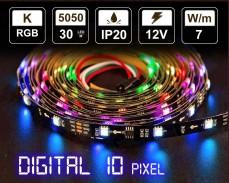 Дигитална LED лента 10 RGB пиксела 12V IP20