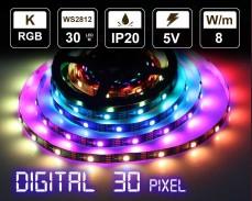 Дигитална LED лента 30 RGB пиксела 5V IP20