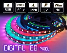Дигитална LED лента 60 RGB пиксела 5V IP20