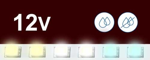 12V бели ленти