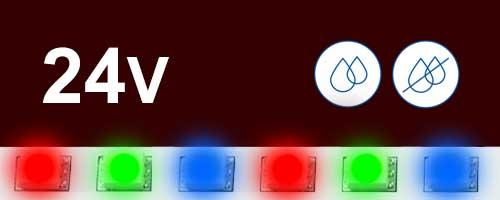 24V цветни ленти