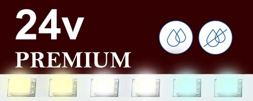 24V бели ленти Premium