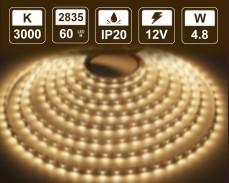 4,8W  LED лента ТОПЛО БЯЛО 60 2835 12V IP20