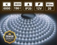 20W LED лента СТУДЕНО БЯЛО 196 2835 12V IP20